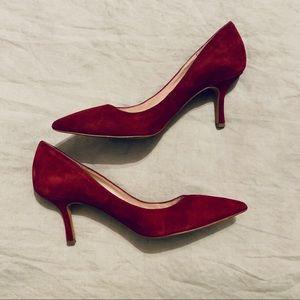 Vince Camuto burgundy suede heels